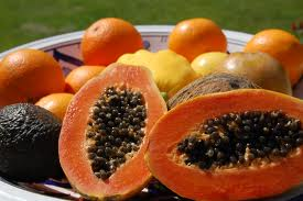 Papayas are rich sources of antioxidant nutrients such as carotenes, vitamin C and flavonoids; the B vitamins, folate and pantothenic acid; and the minerals, potassium, copper, and magnesium; and fiber. Together, these nutrients promote the health of the cardiovascular system and also provide protection against colon cancer. In addition, papaya contains the digestive enzyme, papain, which is used like bromelain, a similar enzyme found in pineapple, to treat sports injuries, other causes of trauma, and allergies.