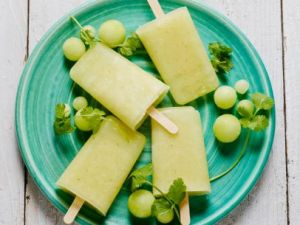 Try making these honeydew melon popsicles. Check out the website for more info. http://www.foodnetwork.com/recipes/food-network-kitchens/honeydew-melon-and-cilantro-ice-pops.html