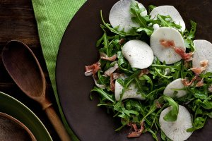 Thinly sliced salad turnips make a crunchy and delicious addition to your next salad.