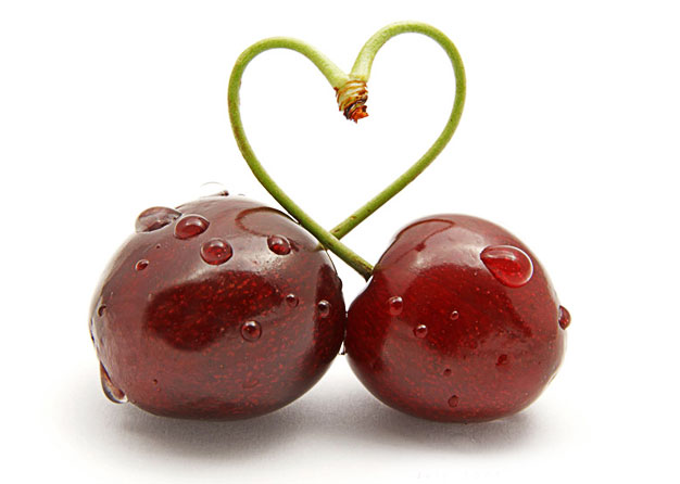 cherries heart