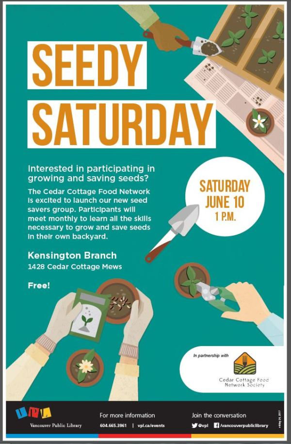 VPL - KEN - SEEDY SATURDAY - JUNE 10 2017