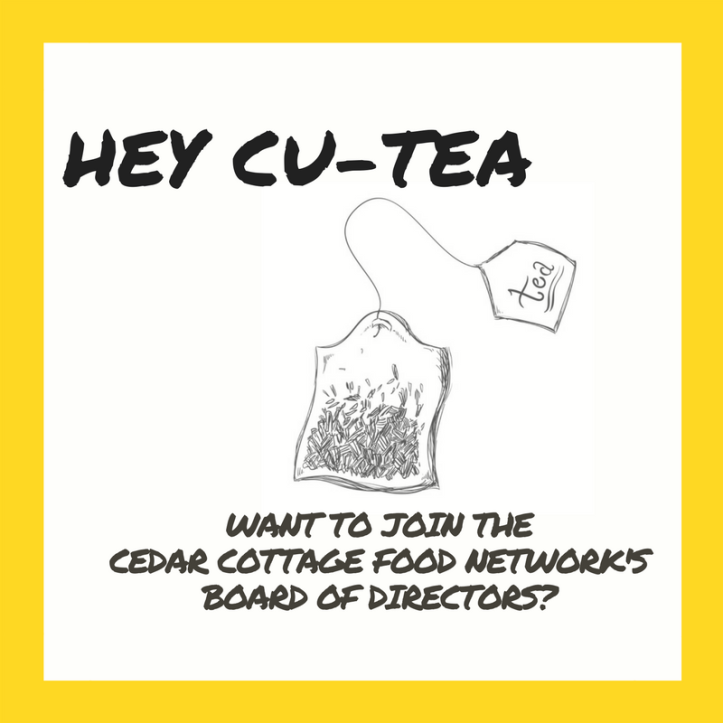 Want to join the Cedar Cottage Food Network's Board of Directors-