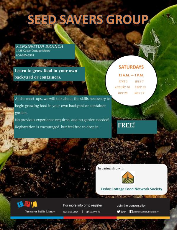 VPL - KEN - SEED SAVERS GROUP POSTER
